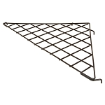 Gridwall Only - Heavy Duty Black Triangular Wire Shelf