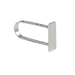 Satin Chrome Endcap for Rectangular Tubing