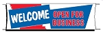Giant 3'x10' Welcome Banner - Red-White-Blue