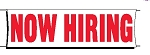 Giant 3'x10' Now Hiring Banner - Red
