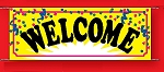 Large 3'x8' Welcome Banner - Confetti Collection