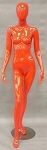 Glossy Red Egghead Female Mannequin