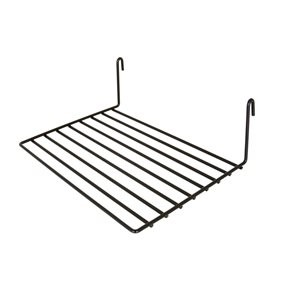 "Gridwall Only - 8""x12"" Black Wire Shelf (Box of 6)"