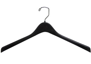 "17"" Black Contoured Outerwear Hanger  (box of 100)"