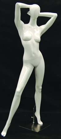 Glossy White Female Egghead Fashion Mannequin