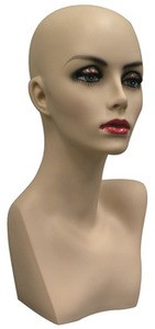 Female Mannequin Head - Fleshtone with Makeup