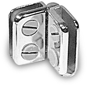 "Hinge Metal Connector for 3/16"" Glass"