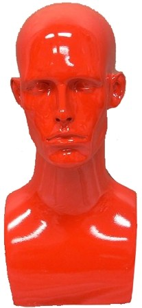 Male Mannequin Head - Red
