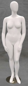 Matte White Egghead Plus Size Female Mannequin