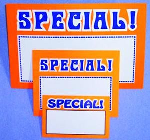 Special Sign Cards (pk of100)